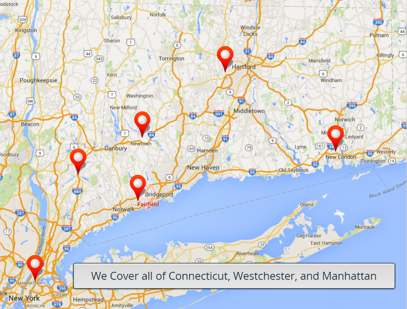 We Cover all of Connecticut, Westchester, and Manhattan