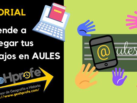 VIDEOTUTORIAL DE AULES para ALUMNADO: Entregar trabajos