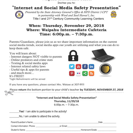 Internet Safety Presentation by HPD