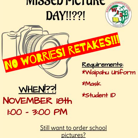 Missed Picture Day?  Retakes?