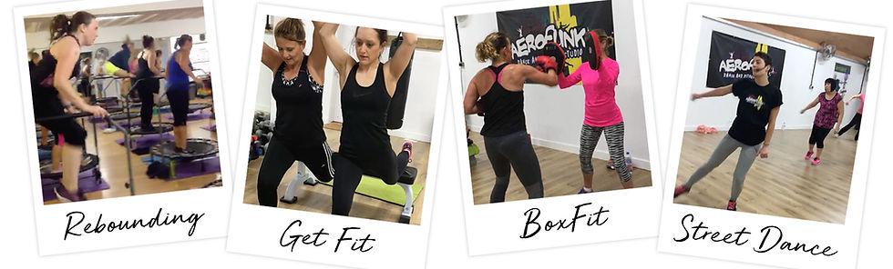 Aerofunk classes, Boxfit, Rebounding, Street Dance