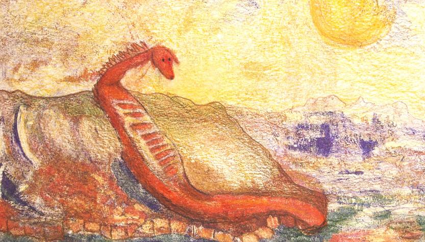 Il drago prende il sole