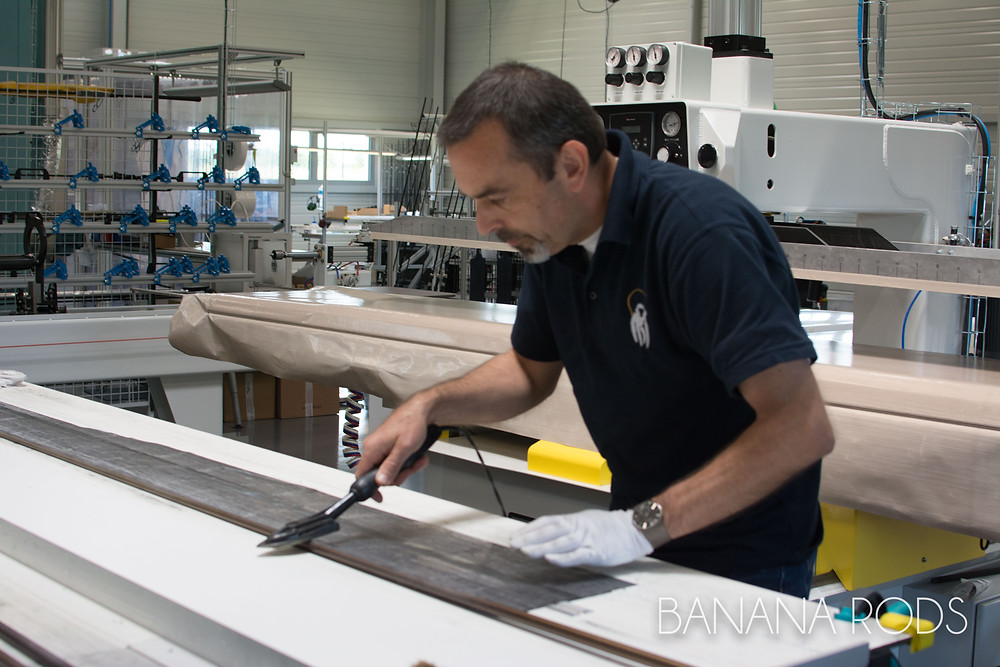 Assembling the sheets of carbon - Banana Rods