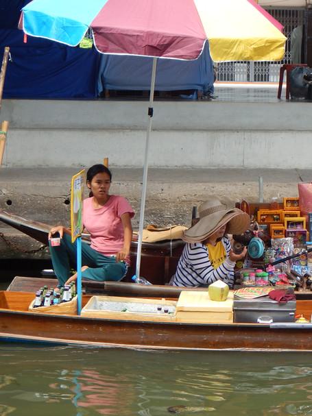 Women at Floating Market, Bangkok, Thailand