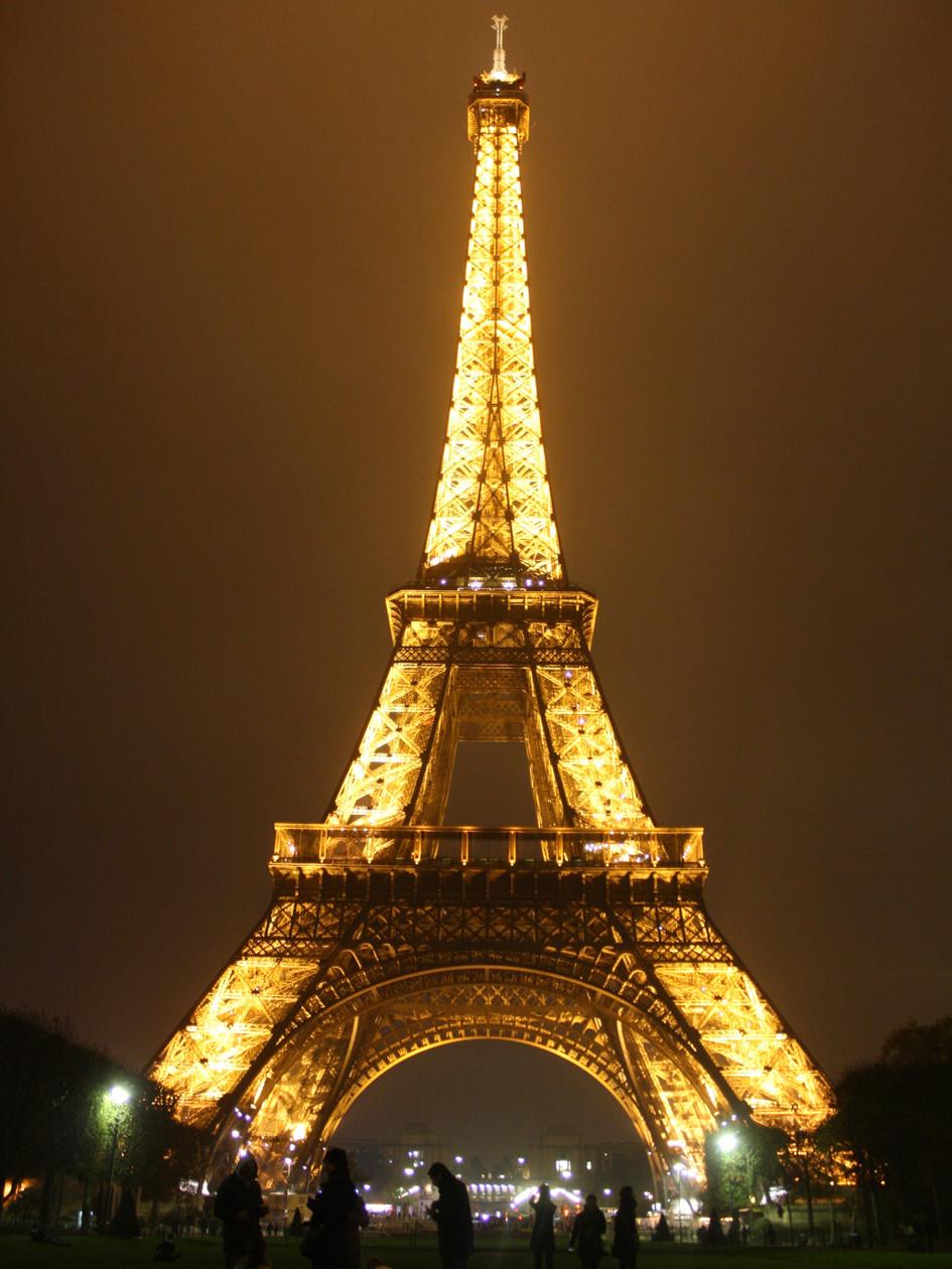 Eiffel Tower at night 2, Paris, France