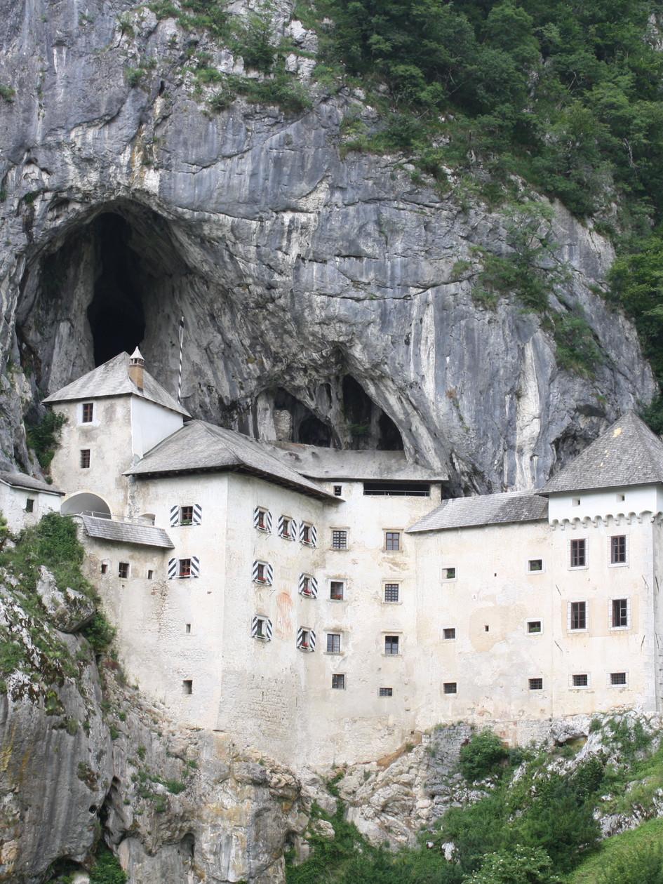 Predjama Castle in Cave on Hillside, Slovenia
