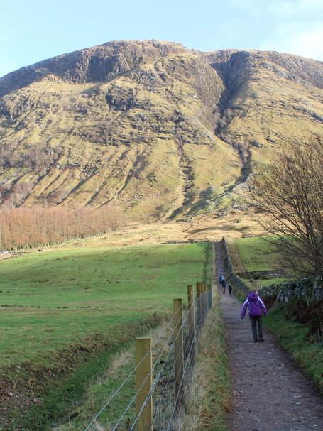 Begin the climb, Ben Nevis, Scottland