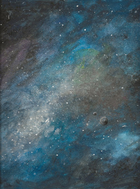 Galaxy Painting: 2 Planets