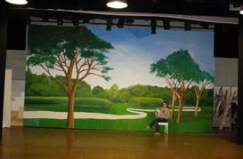 "Park Scene for ""Hello Dolly"" - Backdrop for Aviano Community Theatre, Italy"