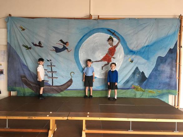 Peter Pan Backdrop for St. Mary's R.C. Primary School, Richmond, England