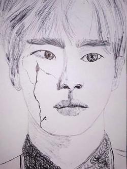 """""""Portrait of Seokjin"""" by R.D."""