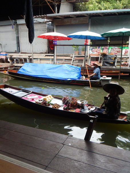 In the Shadows, Floating Market, Thailand