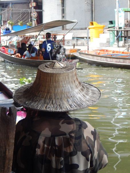 From Behind at the Floating Market, Thailand