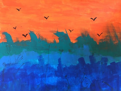 Ocean birds by J.D.
