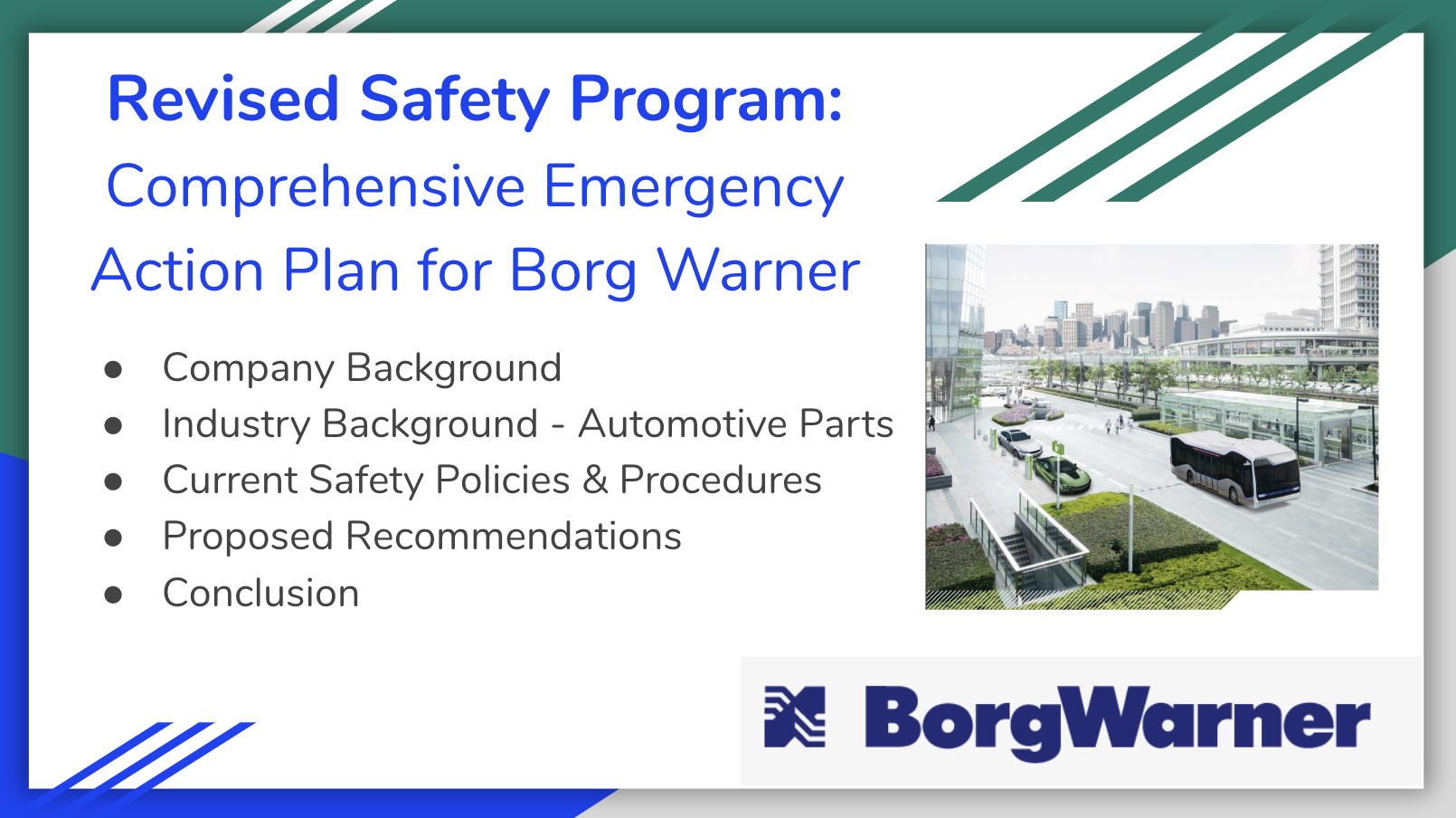Revised Safety Program for BorgWarner