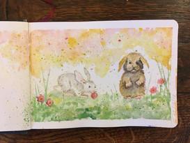 Sketchbook: Bunnies and Dandilions