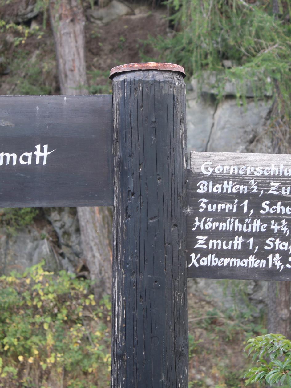 Sign Post, Zermatt, Switzerland