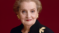 Portrait of Madeleine Albright.