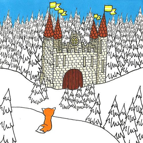 """Carte pliée """"Le Chateau"""""""