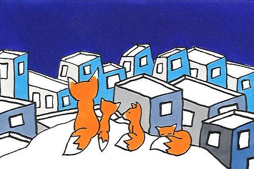 """Marque-page """"La Ville Bleue"""""""