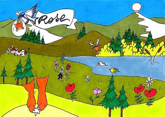 Rose (illustration complète)