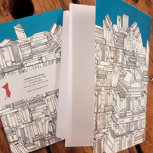 """Grand carnet """"La bibliothèque"""""""