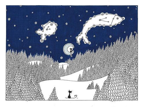 "Carte Postale ""La Constellation"""