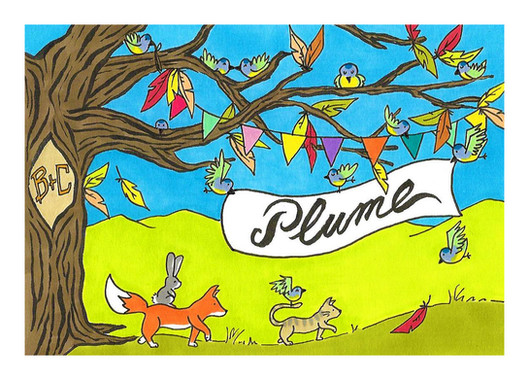 Plume (carte simple, recto)