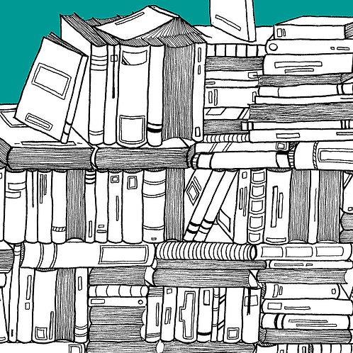 """Carnet à rabats """"La Bibliothèque"""""""