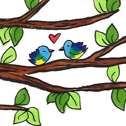 """Marque-page """"Les Oiseaux"""""""