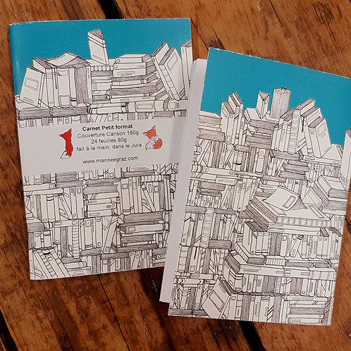 """Petit carnet """"La bibliothèque"""""""