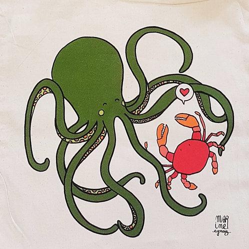 """Totebag """"Un amour de crabe"""""""