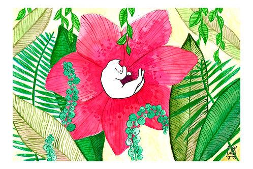"Carte Postale ""Flower Cat"""