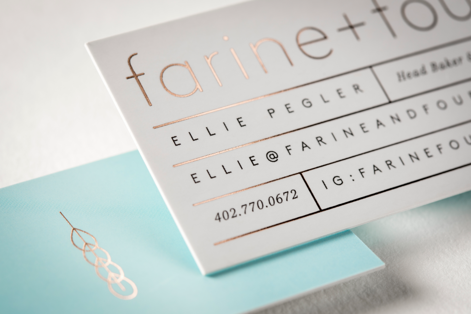 Silk  +  Foil Business Card