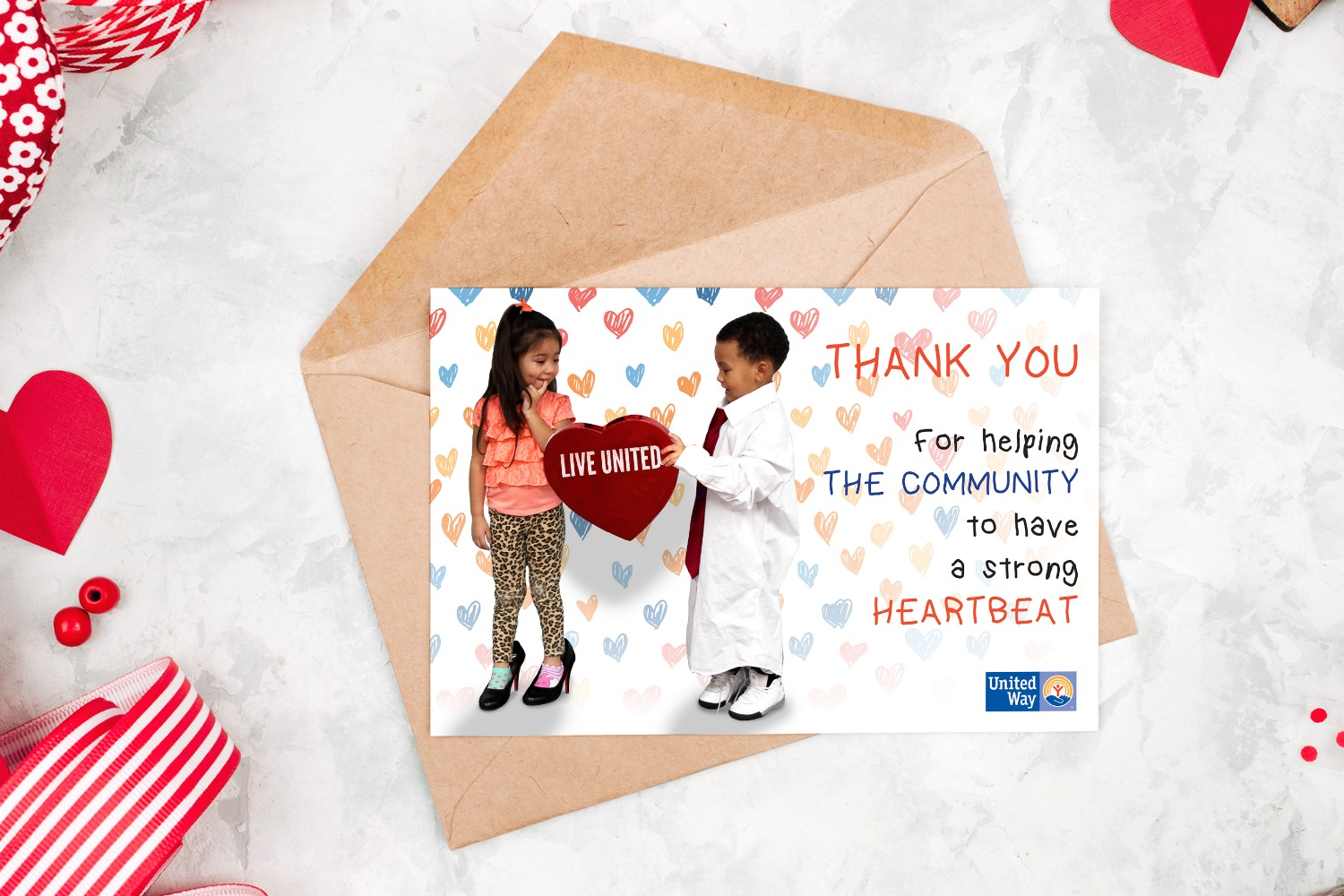 United Way Valentine's Day Card