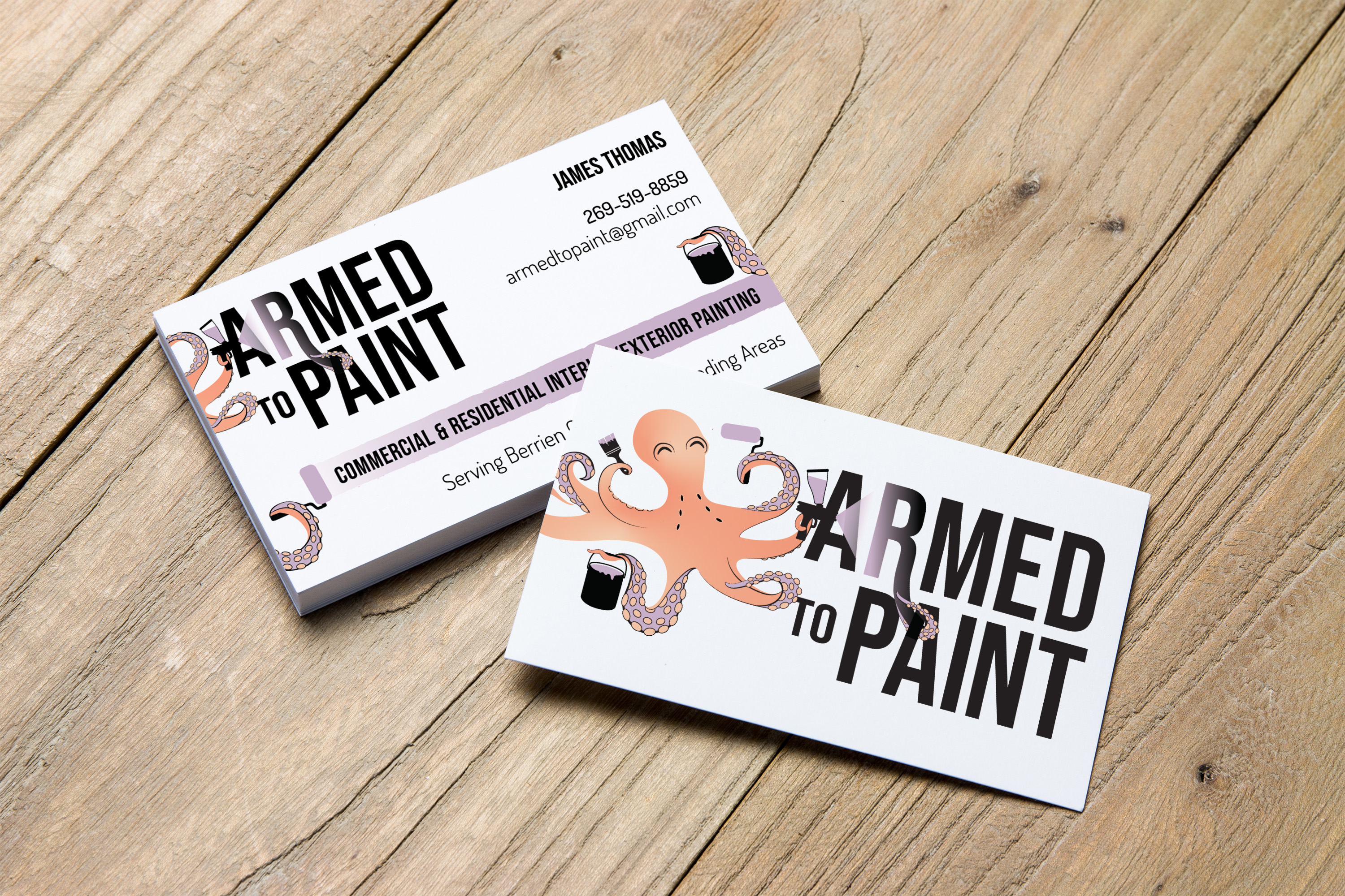 Armed to Paint Business Card