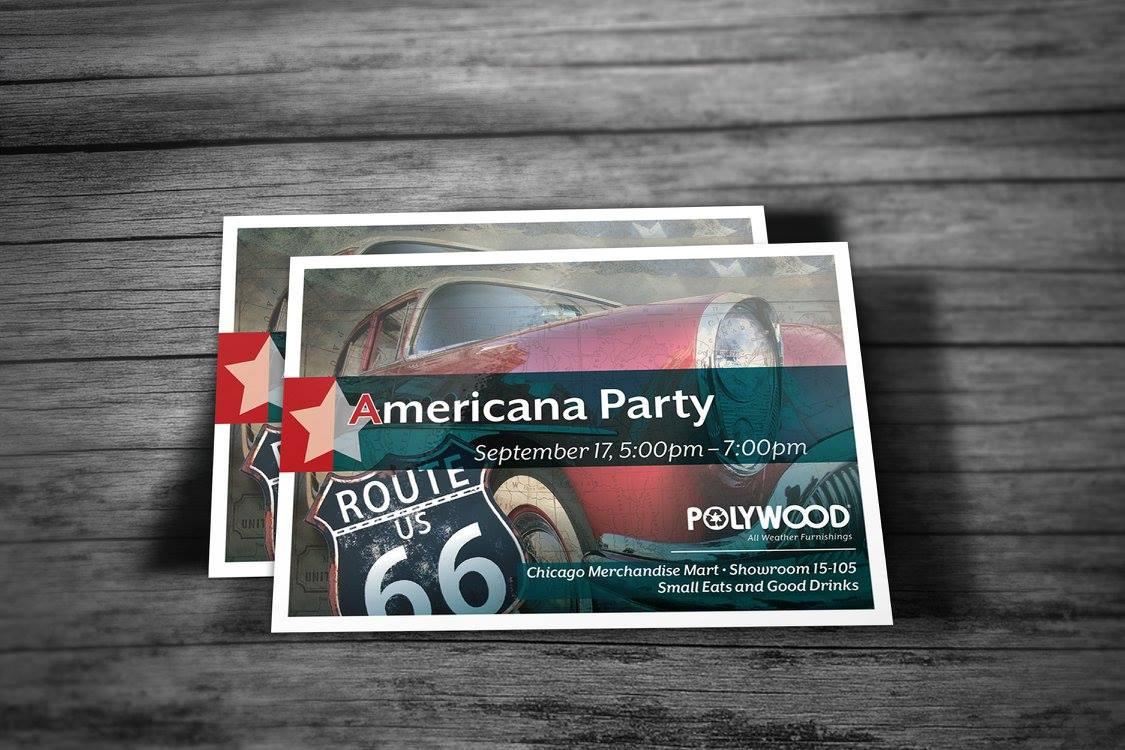 Postcard Event Invitations