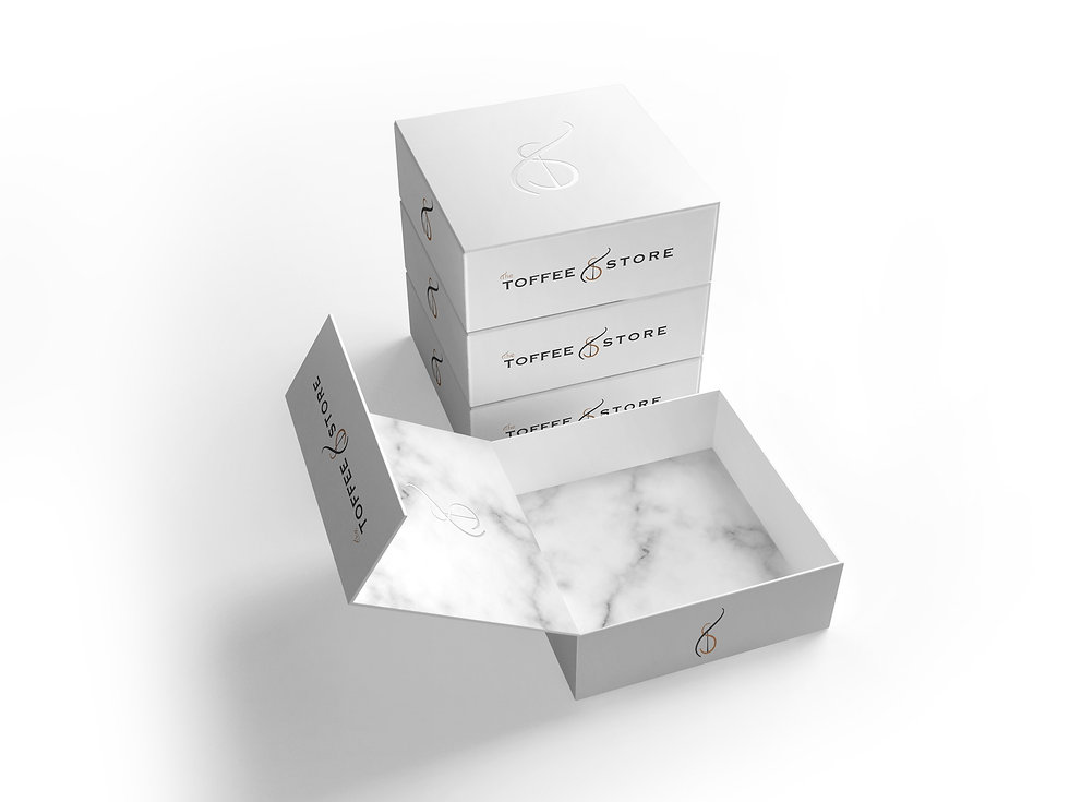 Lux Packaging - White suede touch silver