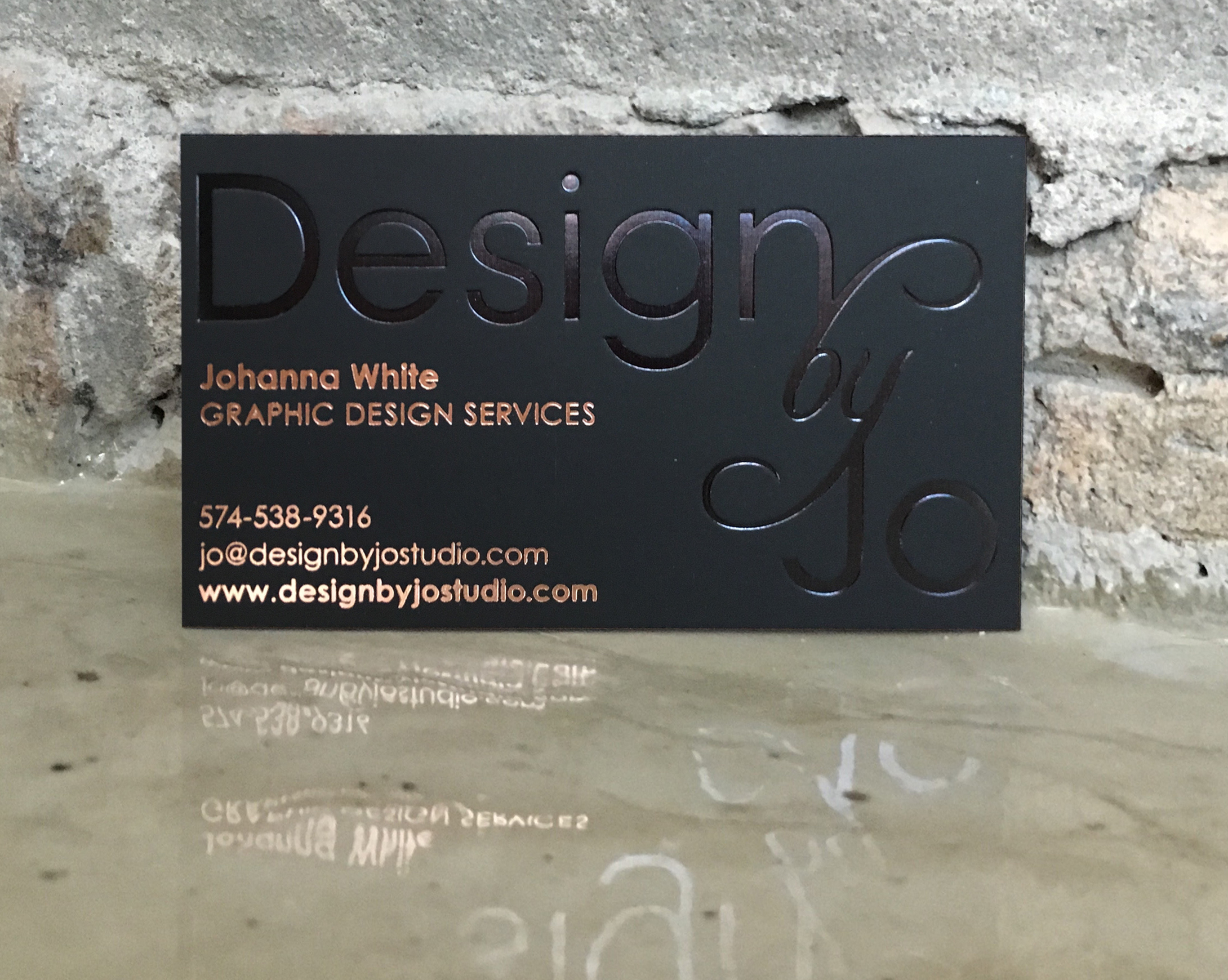 Premium Black Business Card