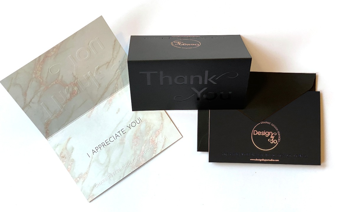 Lux Custom Thank You Cards