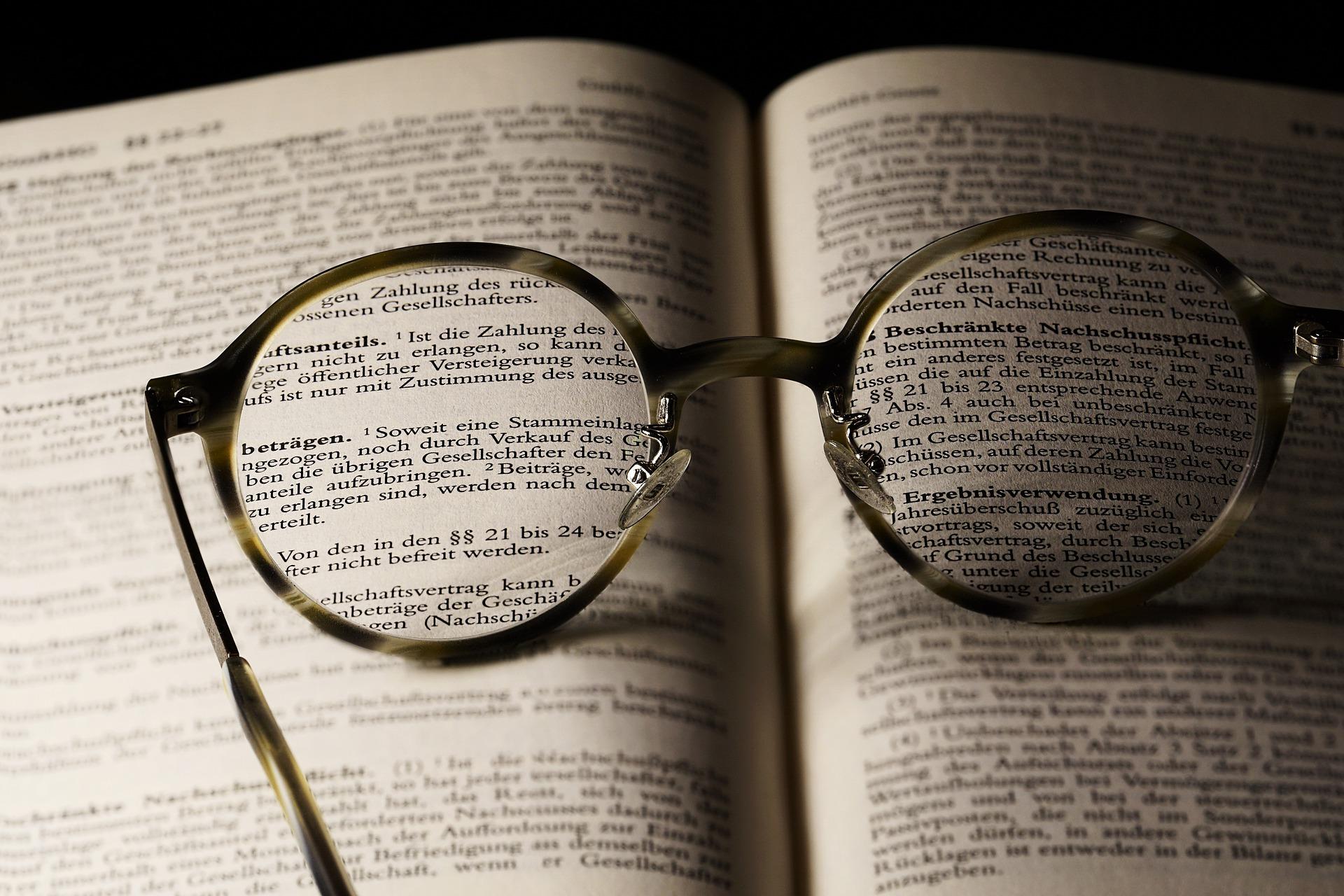 Lenti occhiali per lettura