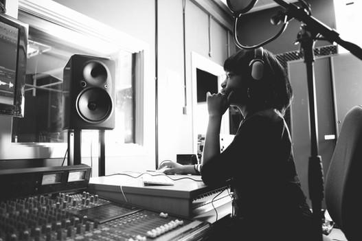 Woman in a Studio