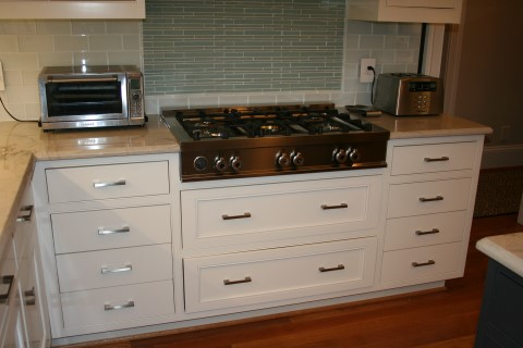 Custom range top cabinet