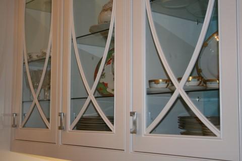 Hand made glass door trim