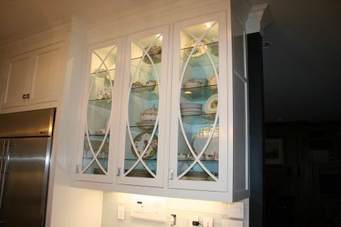 Glass door hand made trim