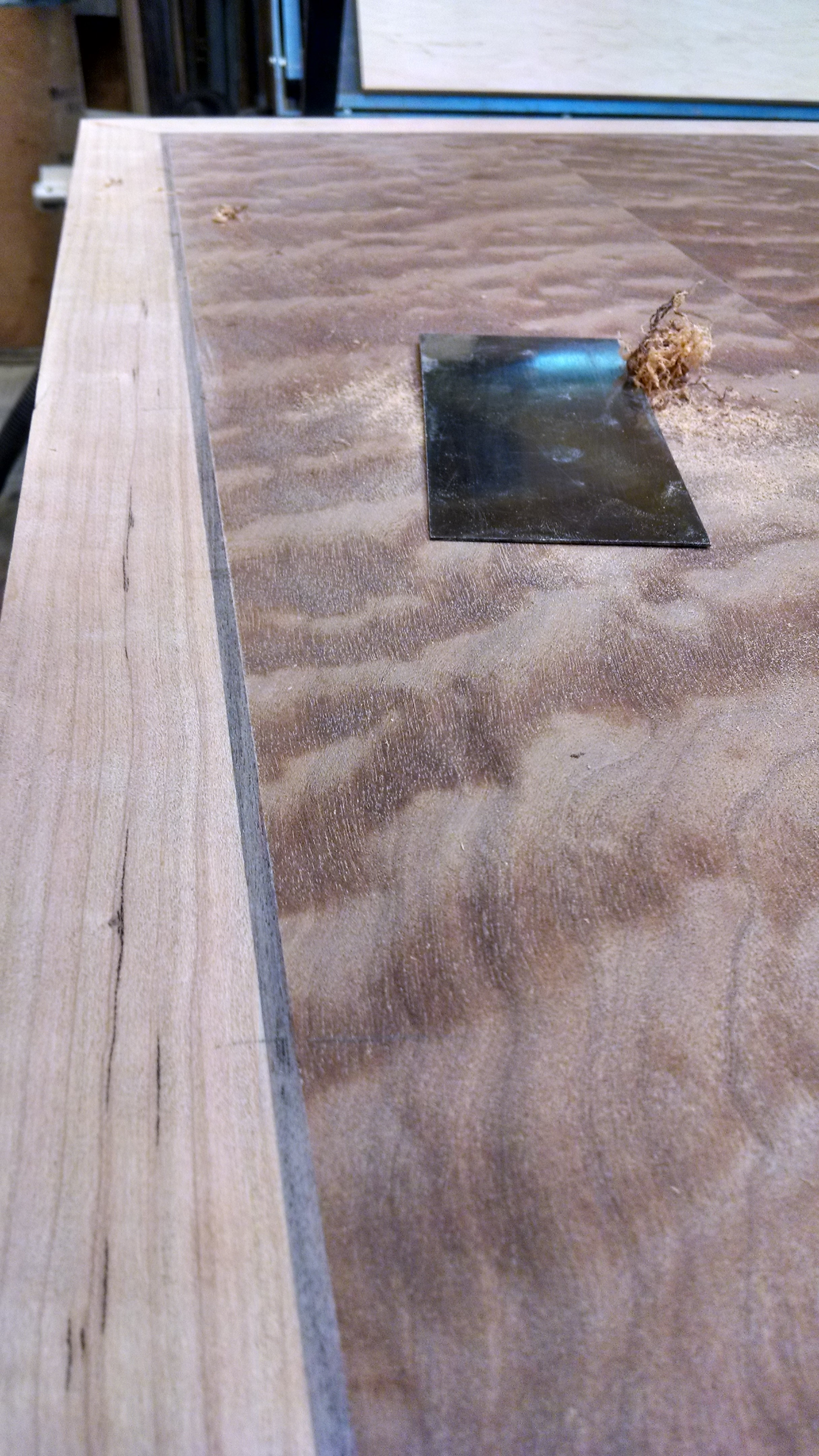 Bar top with walnut accent