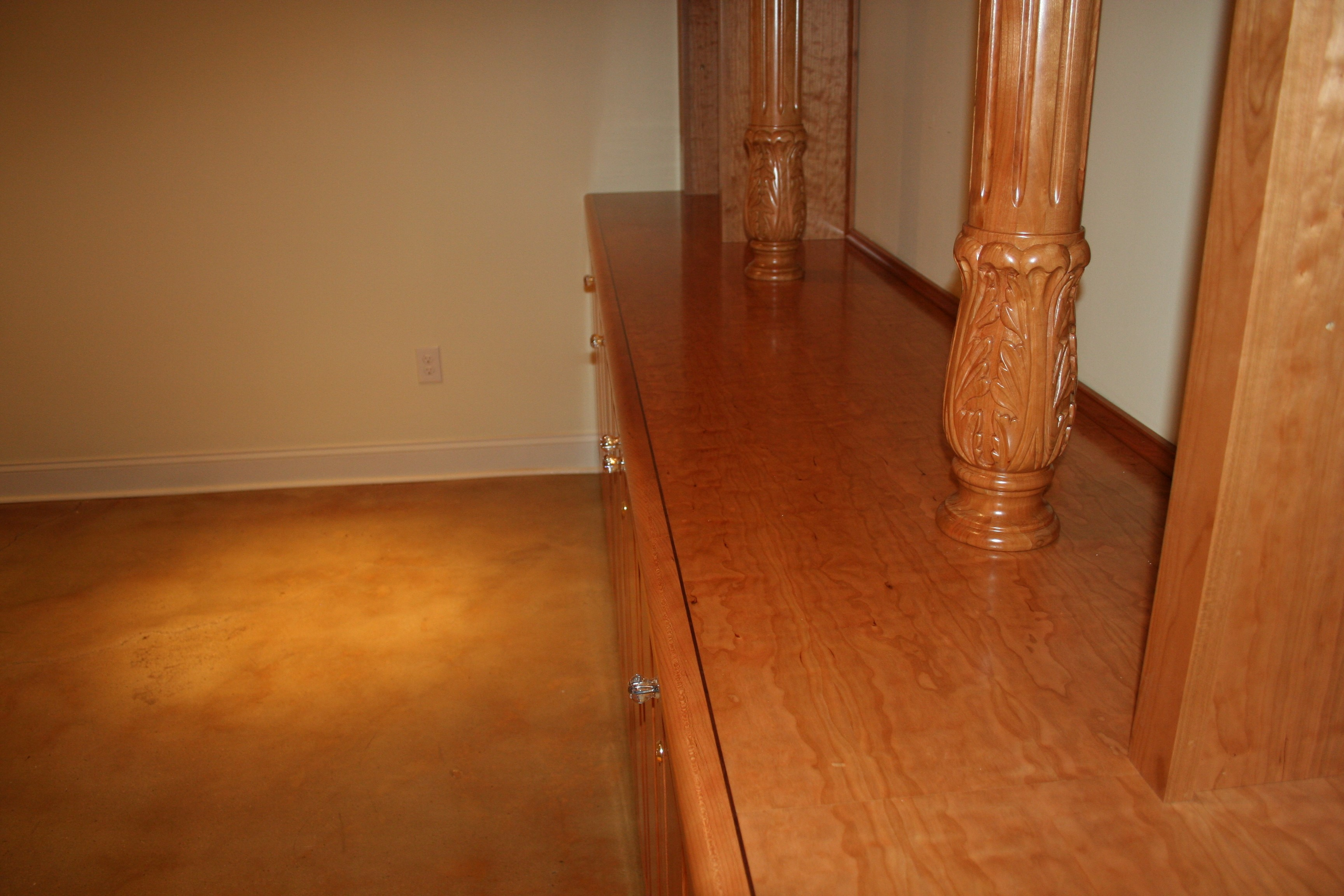 Wooden counter top