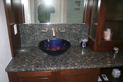 Vanity with vessel bowl