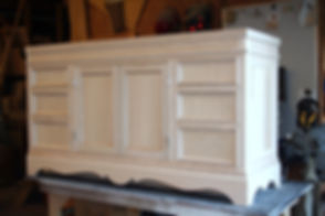 French country style vanity unfinished