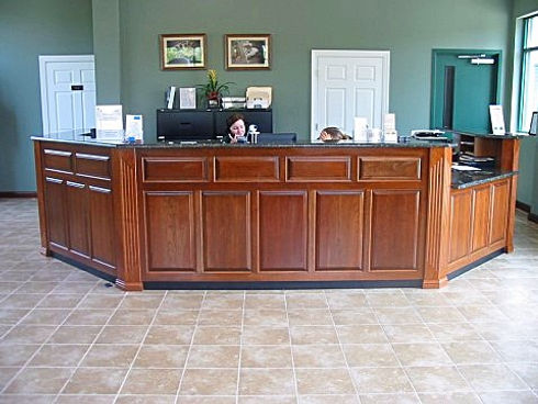 Reception desk in Wake Forest